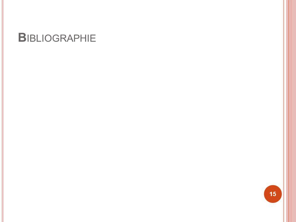 B IBLIOGRAPHIE 15