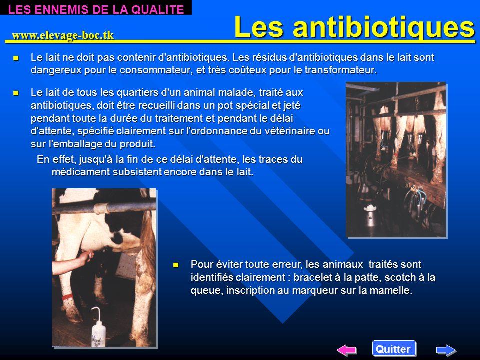 L'hygiène lors des traitements n L'injection n L'injection d'antibiotiques est un acte médical, qui doit se faire dans des conditions d'hygiène parfai