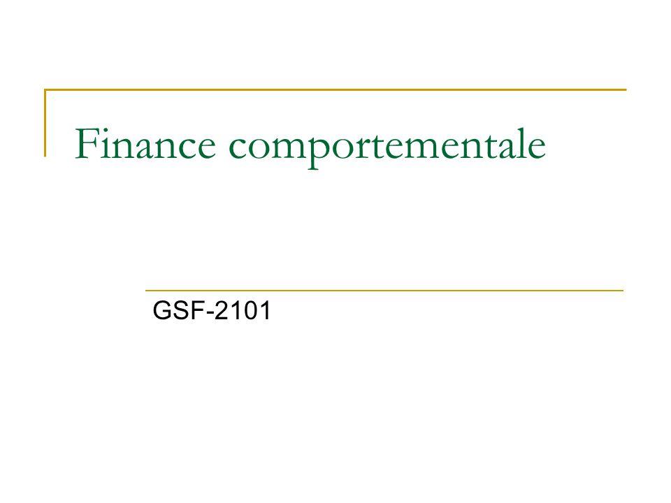 Finance comportementale GSF-2101
