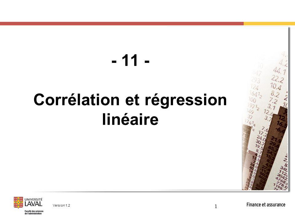12 Analyse de régression Graphiquement, il s'agira de tracer une droite linéaire qui minimisera l'écart (mis au carré) entre chaque couple (X,Y) et son point correspondant sur la droite de régression.