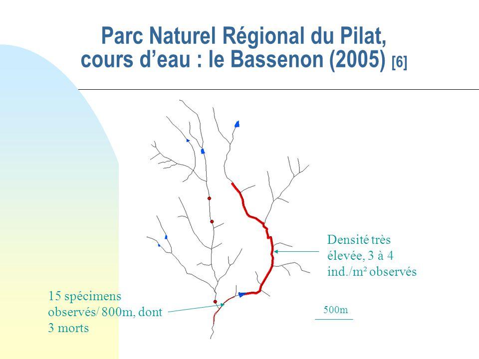 Cas des écrevisses autochtones -Espèces très sensibles à la qualité du milieu (eau fraîche, bien oxygénée, habitat de qualité : ex. écrevisse à pattes