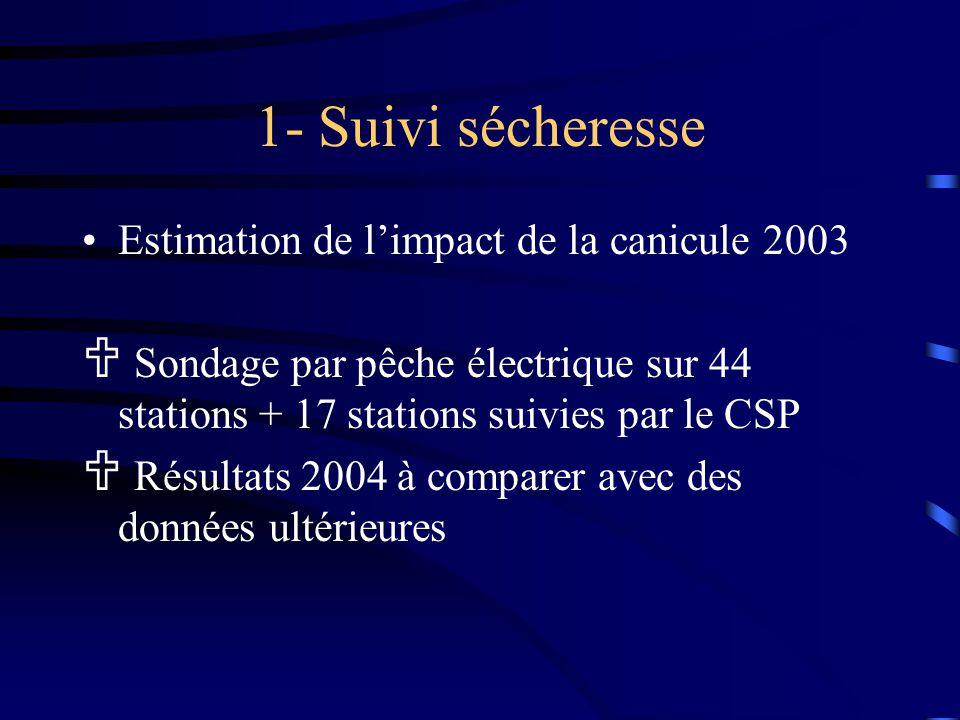 Études et actions techniques Bilan de l'année 2004