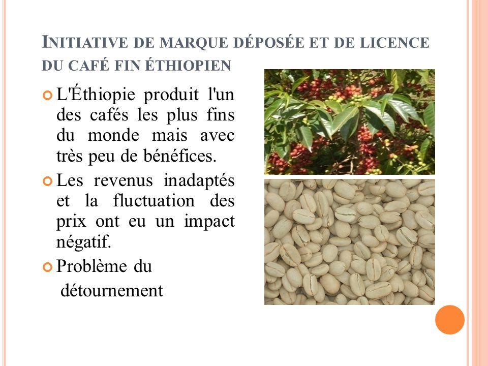 I NITIATIVE DE MARQUE DÉPOSÉE ET DE LICENCE DU CAFÉ FIN ÉTHIOPIEN L Éthiopie produit l un des cafés les plus fins du monde mais avec très peu de bénéfices.