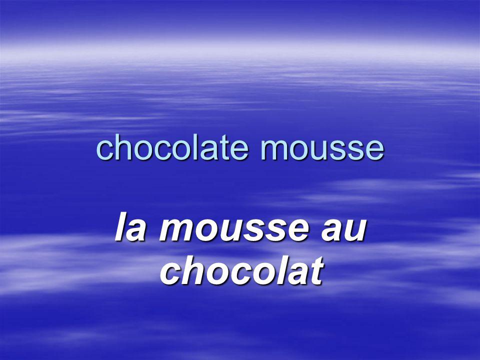 chocolate mousse la mousse au chocolat