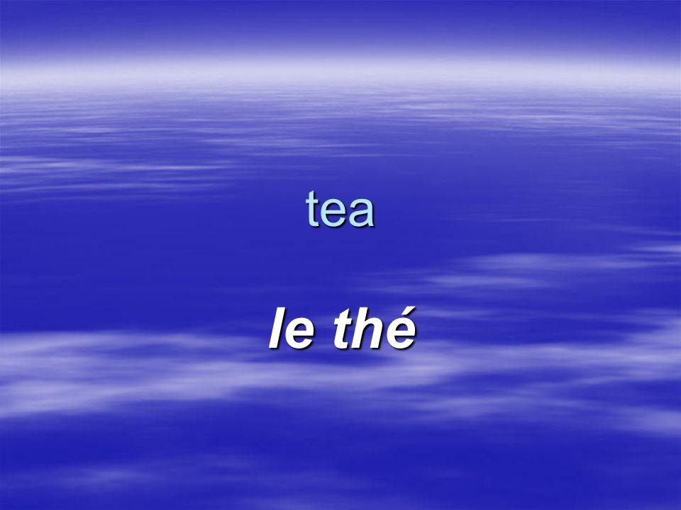 tea le thé