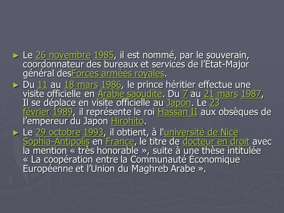 ► Le 12 avril 1994, il préside l'ouverture des travaux de la conférence ministérielle du GATT à Marrakech.
