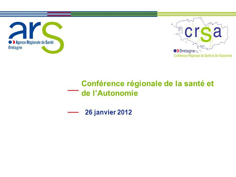 XX/XX/XX Conférence régionale de la santé et de l'Autonomie 26 janvier 2012