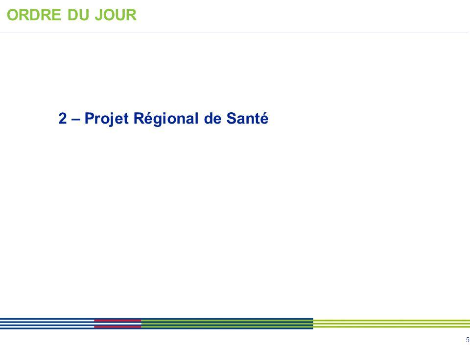 5 2 – Projet Régional de Santé ORDRE DU JOUR
