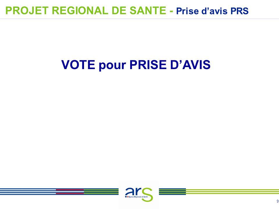 9 VOTE pour PRISE D'AVIS