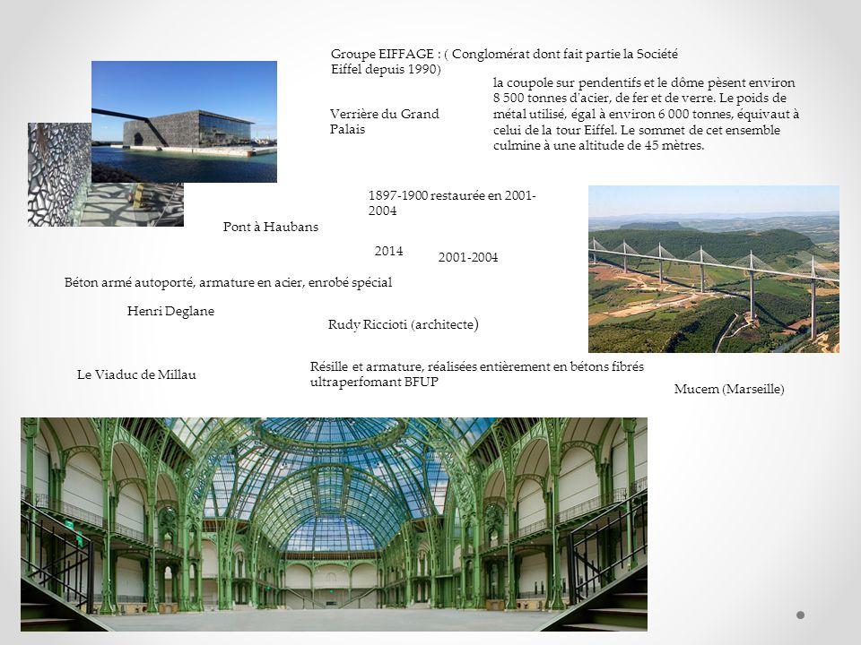 Le Viaduc de Millau Groupe EIFFAGE : ( Conglomérat dont fait partie la Société Eiffel depuis 1990) 2001-2004 Pont à Haubans Béton armé autoporté, arma