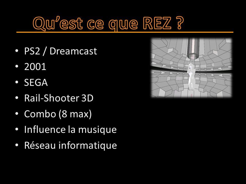 PS2 / Dreamcast 2001 SEGA Rail-Shooter 3D Combo (8 max) Influence la musique Réseau informatique