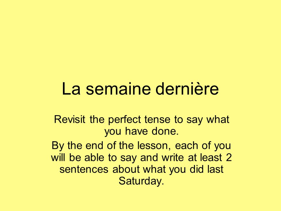 Lire 1.Examples of what was done in the past tense.