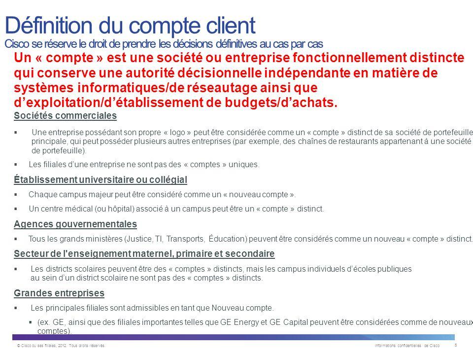 © Cisco ou ses filiales, 2012.Tous droits réservés.