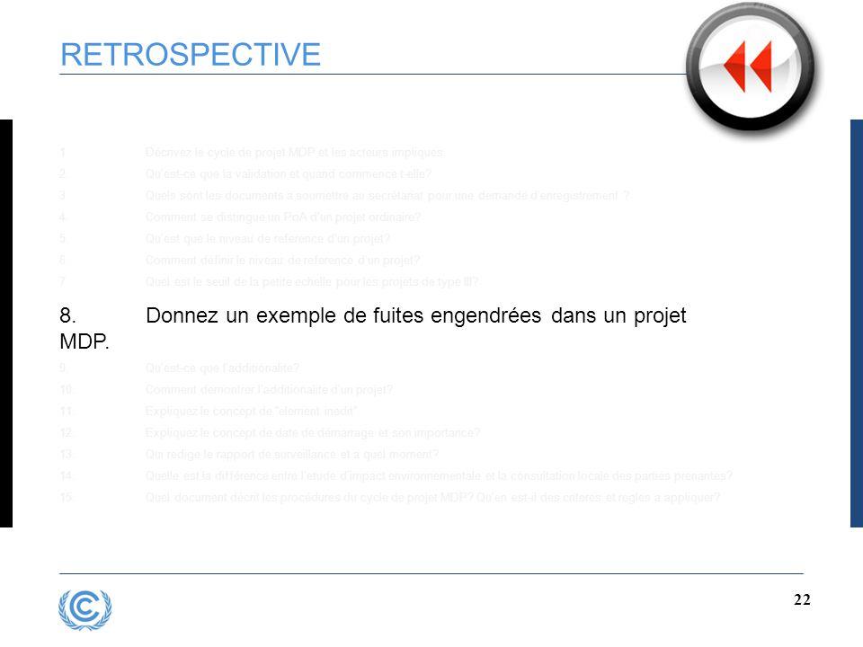 21 RETROSPECTIVE 1.Décrivez le cycle de projet MDP et les acteurs impliques 2.Qu'est-ce que la validation et quand commence t-elle.