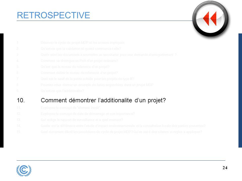 23 RETROSPECTIVE 1.Décrivez le cycle de projet MDP et les acteurs impliques 2.Qu'est-ce que la validation et quand commence t-elle.