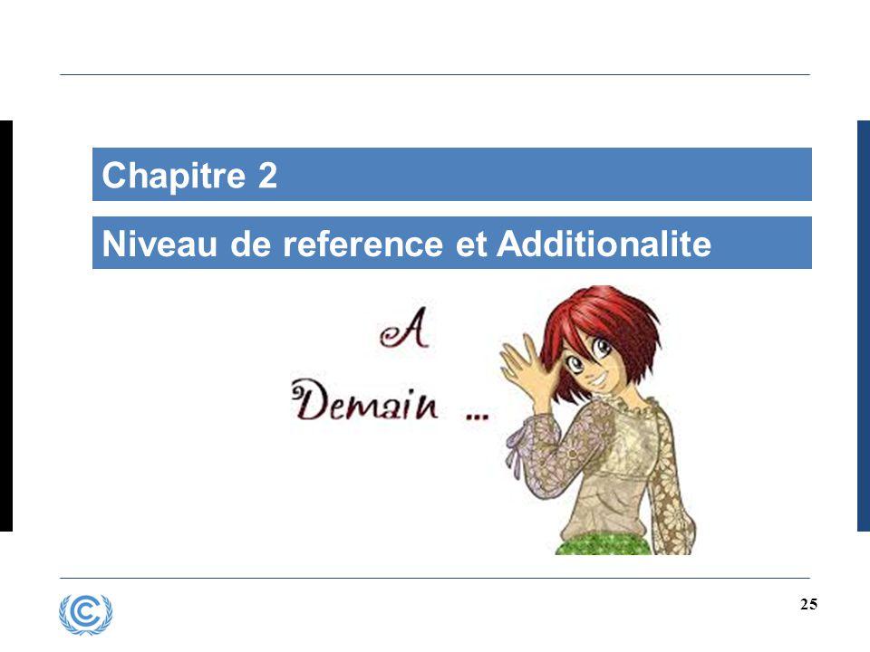 25 Chapitre 2 Niveau de reference et Additionalite