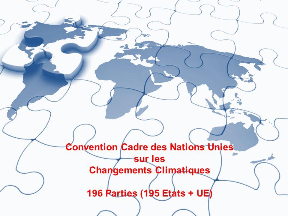 4 ARCHITECTURE D'ATTENUATION Convention Cadre des Nations Unies sur les Changements Climatiques 196 Parties (195 Etats + UE)