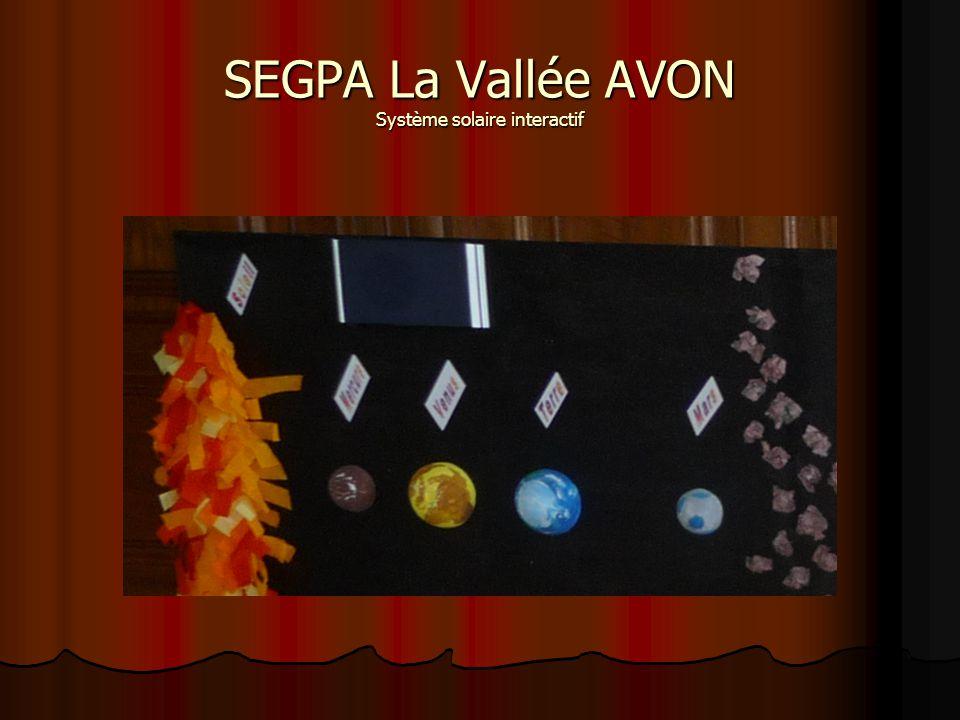 SEGPA La Vallée AVON Système solaire interactif