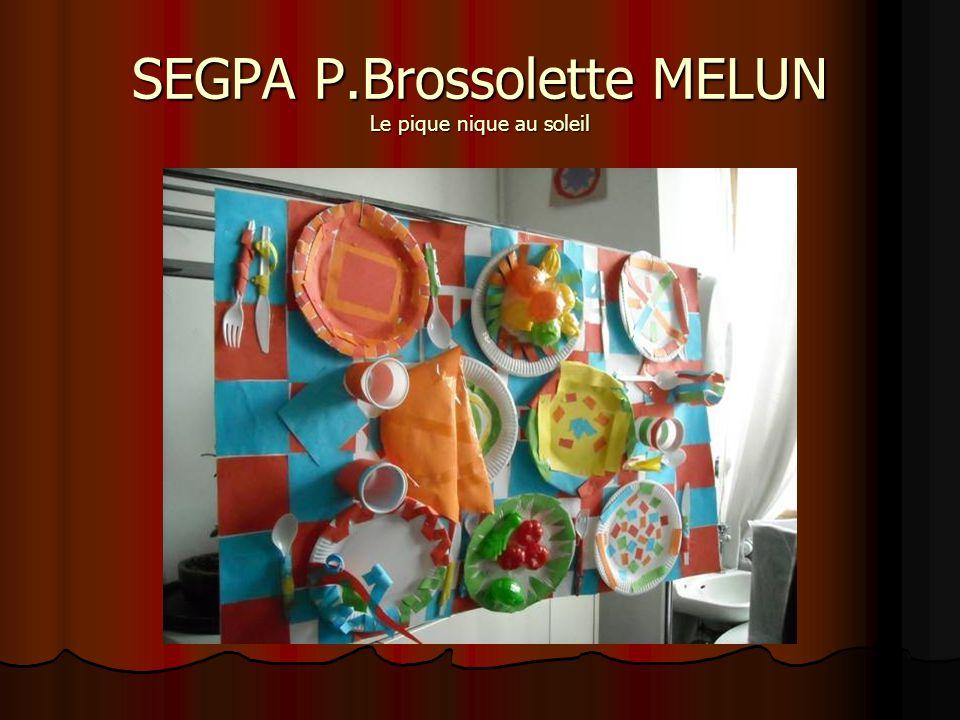 SEGPA P.Brossolette MELUN Le pique nique au soleil