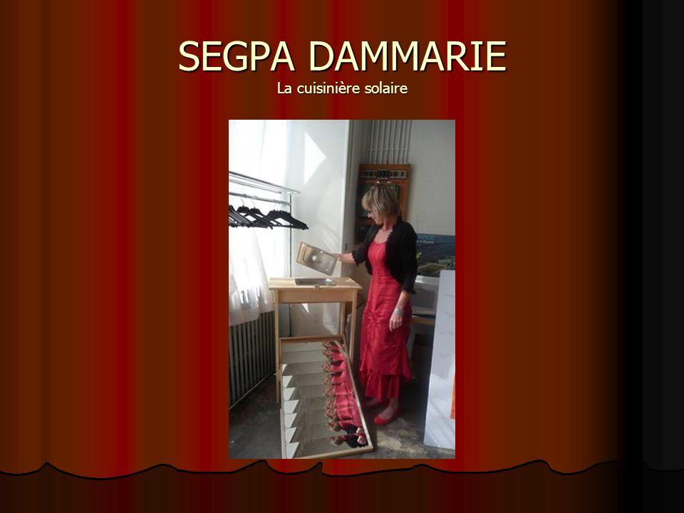 SEGPA DAMMARIE La cuisinière solaire