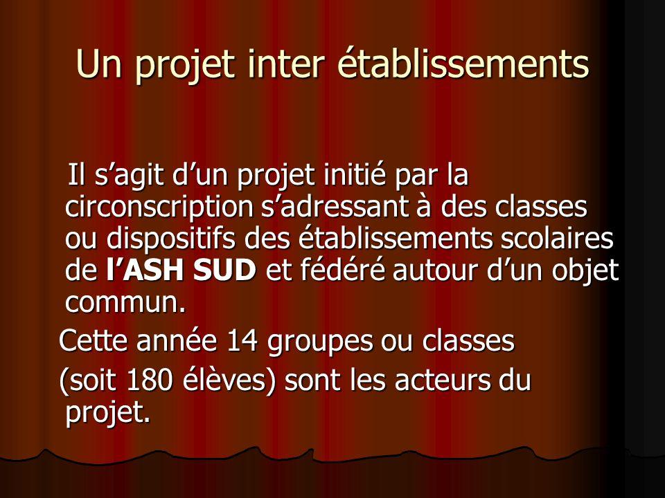 Un projet inter établissements Il s'agit d'un projet initié par la circonscription s'adressant à des classes ou dispositifs des établissements scolair