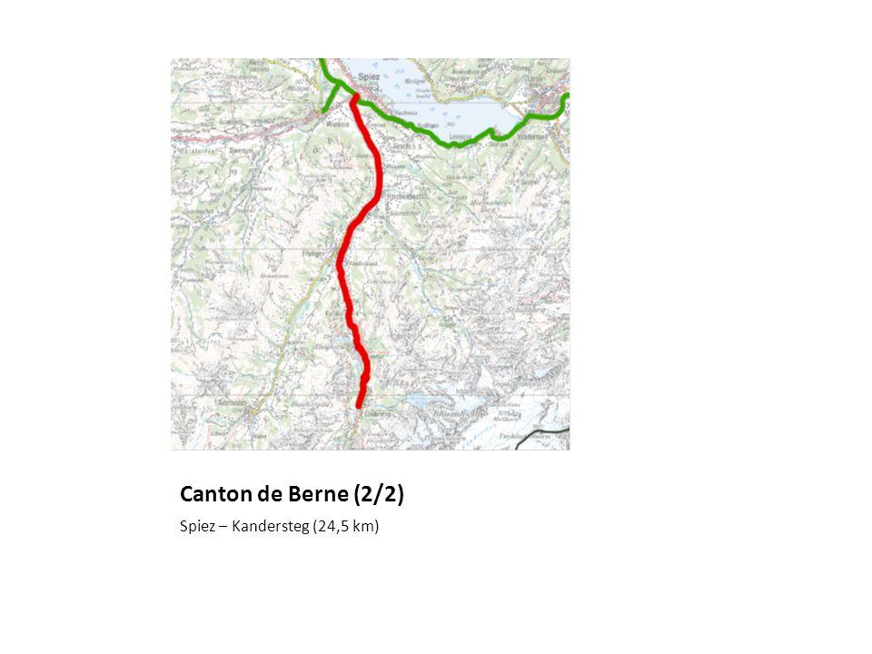 Canton de Berne (2/2) Spiez – Kandersteg (24,5 km)