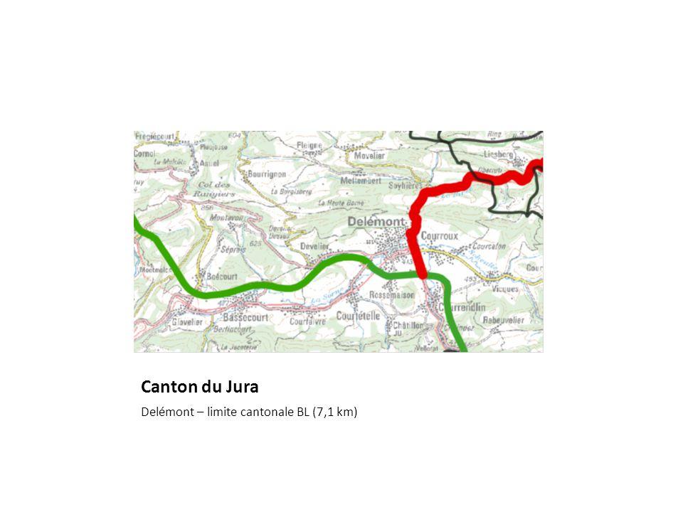 Canton du Jura Delémont – limite cantonale BL (7,1 km)