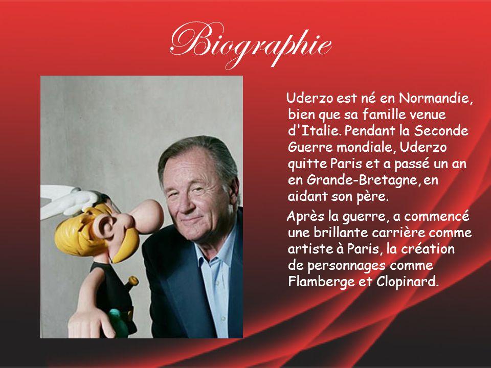 Biographie Uderzo est né en Normandie, bien que sa famille venue d Italie.