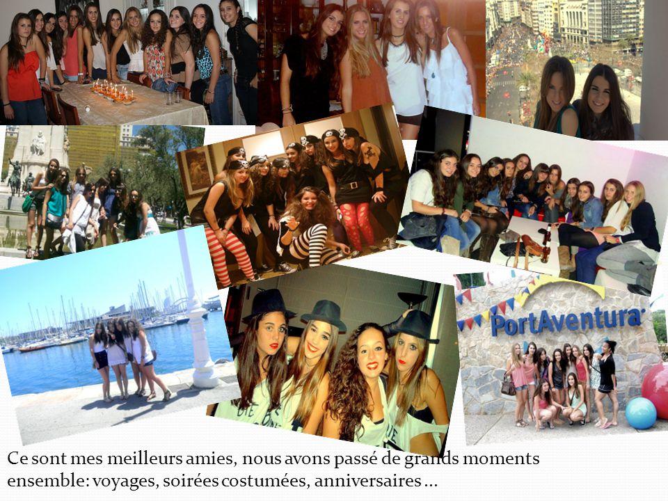 Ce sont mes meilleurs amies, nous avons passé de grands moments ensemble: voyages, soirées costumées, anniversaires...