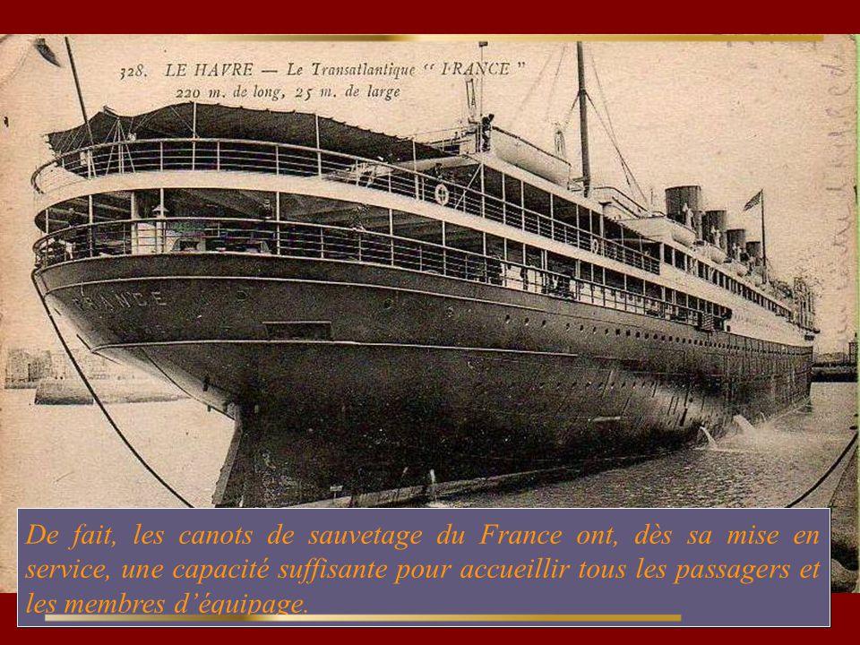 Le France IV, quitte Le Havre pour son voyage inaugural le 20 Avril 1912, soit 5 jours après le naufrage du Titanic.