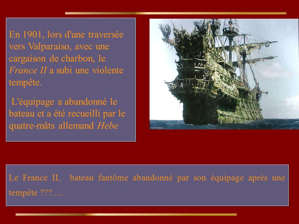 Le France II, bateau fantôme abandonné par son équipage après une tempête ???.....