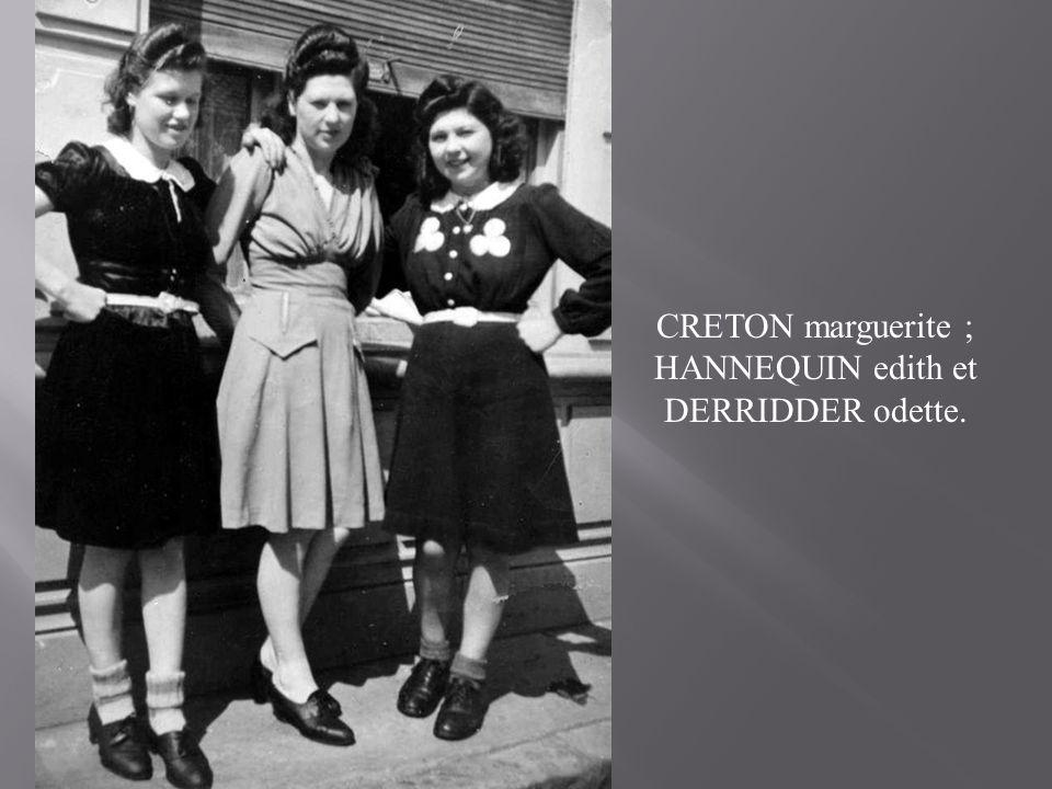 Emelie et Odette HANNEQUIN qui habitaient au bout d'OYE.