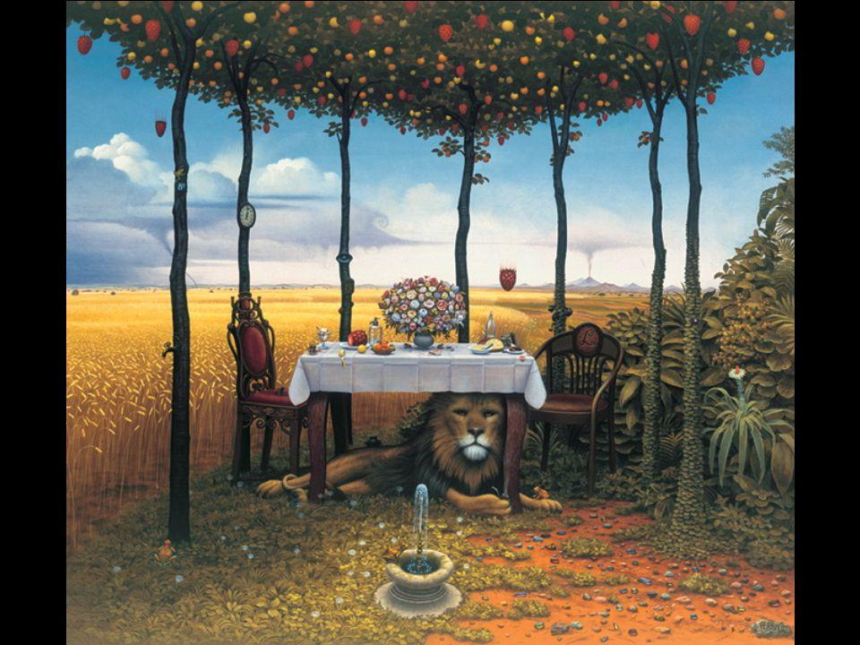 Les peintures soigneusement rendues de Yerka (acryliques sur la toile) sont remplies d'images d'enfance de l'artiste. Yerka a beaucoup été influencé p