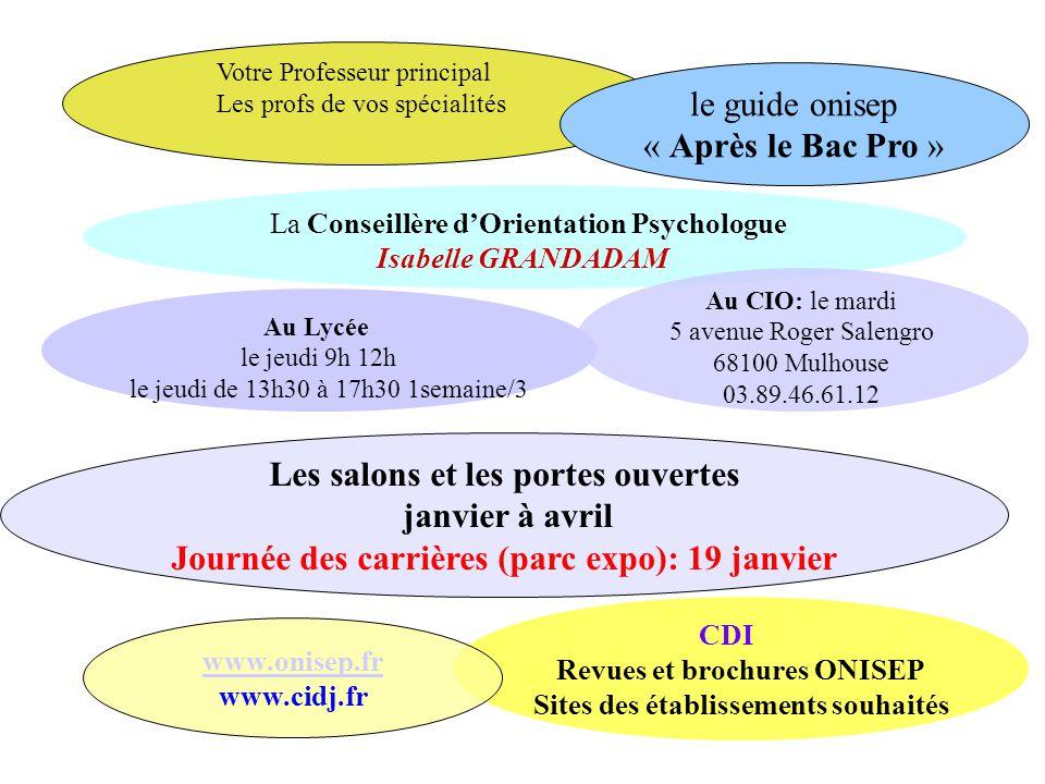 La Conseillère d'Orientation Psychologue Isabelle GRANDADAM Au Lycée le jeudi 9h 12h le jeudi de 13h30 à 17h30 1semaine/3 Au CIO: le mardi 5 avenue Ro