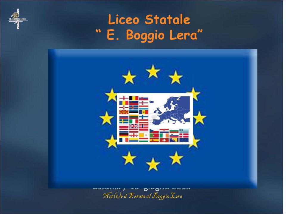 """Dipartimento di Lingue Liceo Statale """" E. Boggio Lera"""" Catania, 15 giugno 2013 Not(t)e d'Estate al Boggio Lera"""