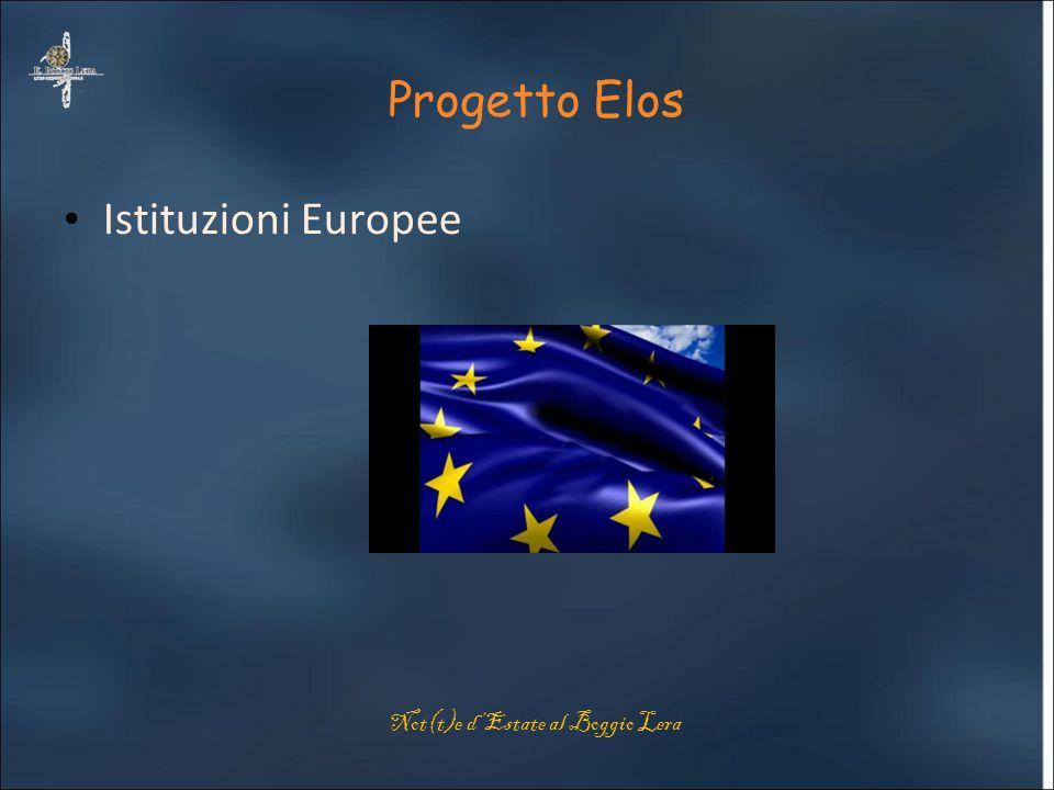 Progetto Elos Istituzioni Europee Not(t)e d'Estate al Boggio Lera