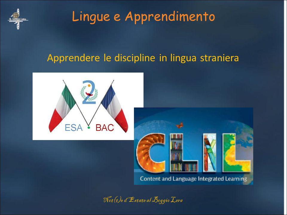 Lingue e Apprendimento Apprendere le discipline in lingua straniera Not(t)e d'Estate al Boggio Lera