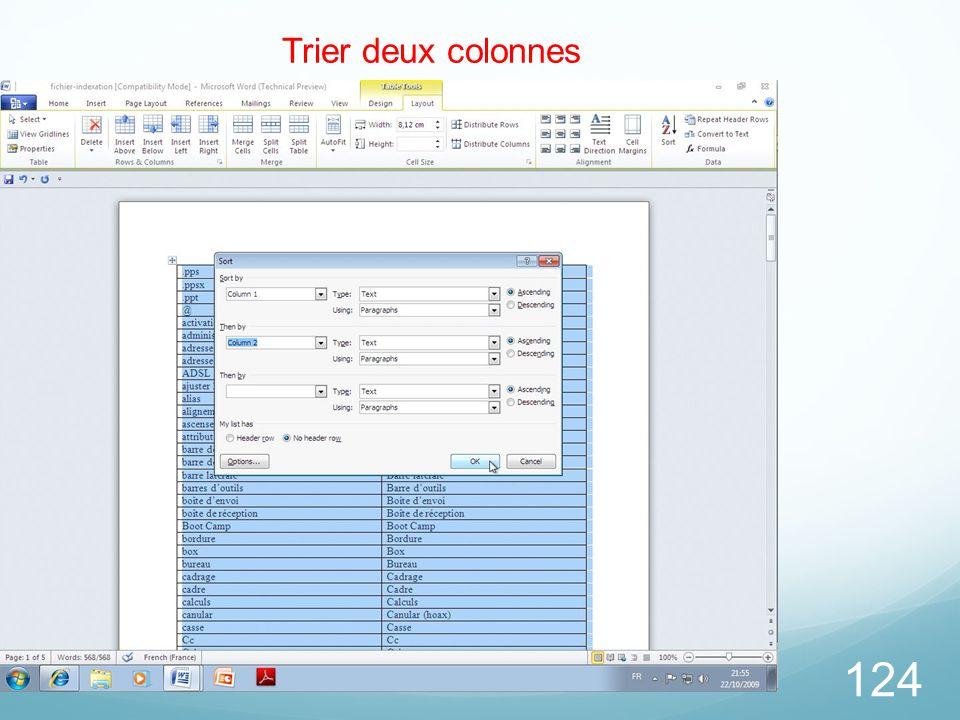 124 Trier deux colonnes