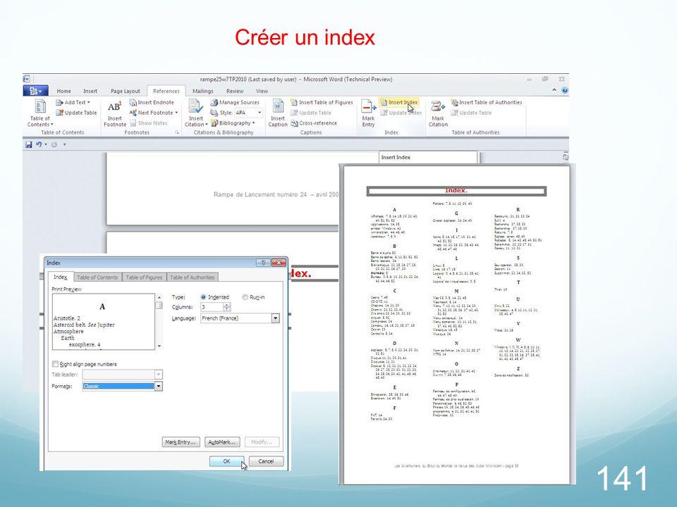 141 Créer un index