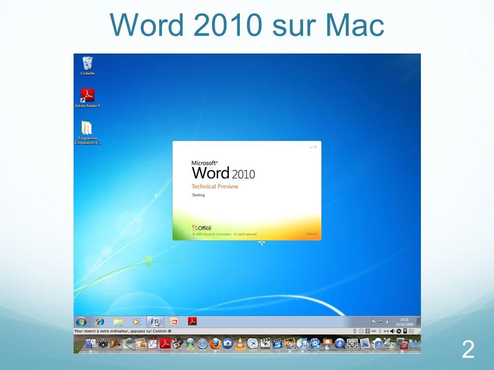 Word 2010 sur Mac 2