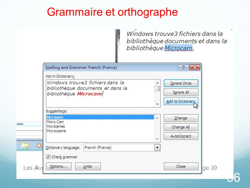 66 Grammaire et orthographe