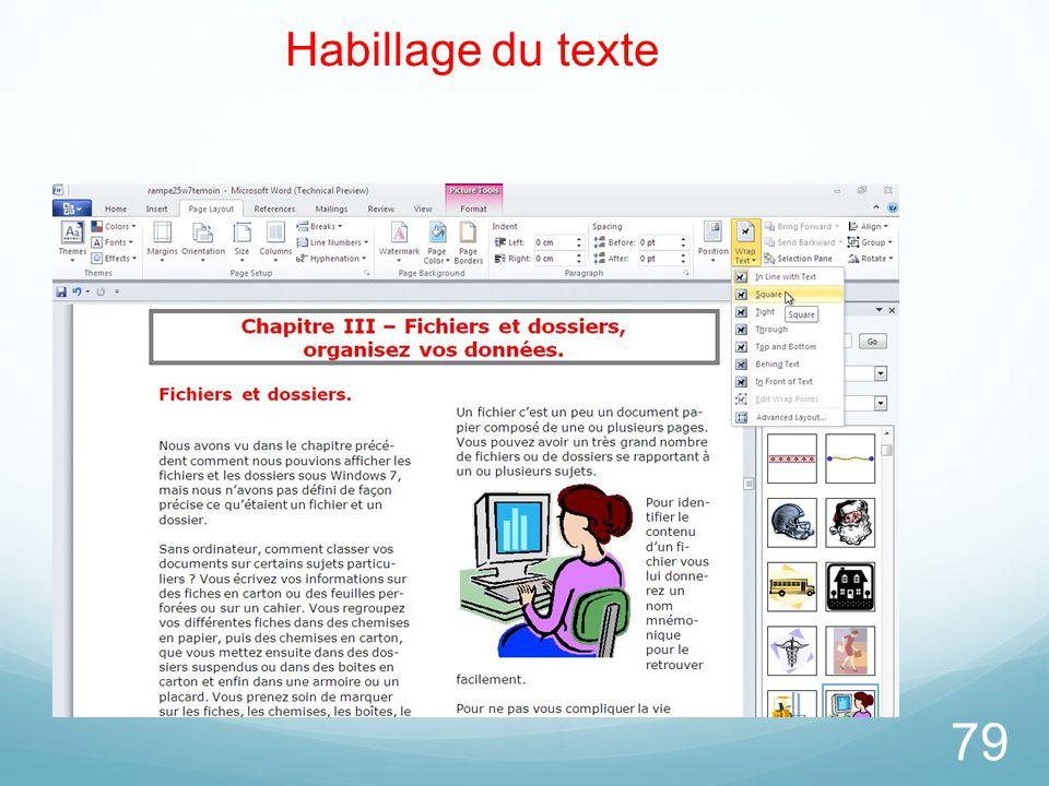 79 Habillage du texte