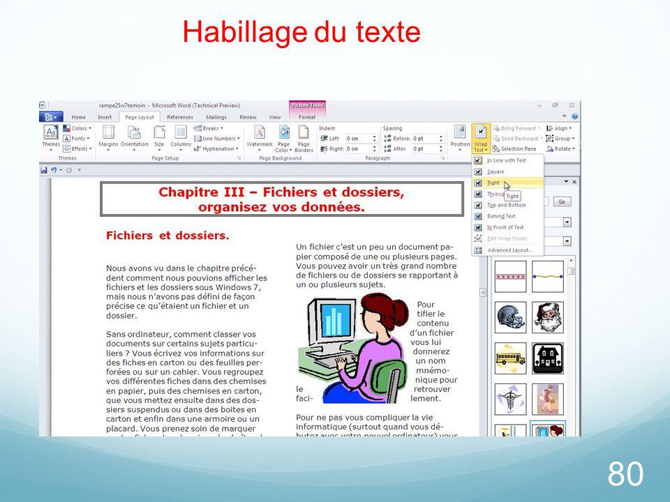 80 Habillage du texte