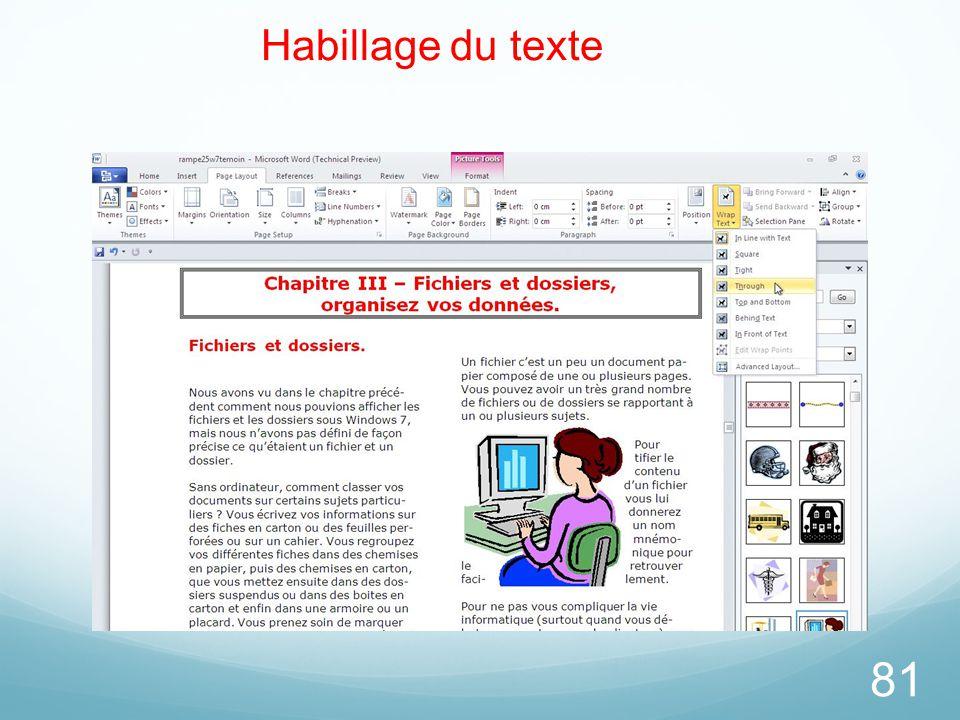 81 Habillage du texte