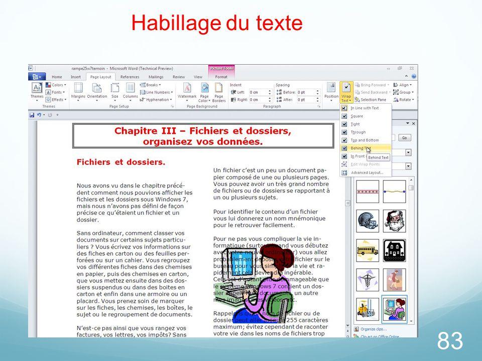 83 Habillage du texte