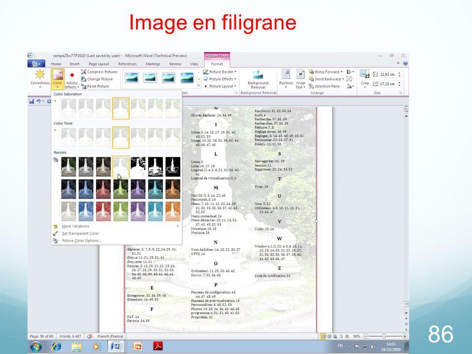 86 Image en filigrane
