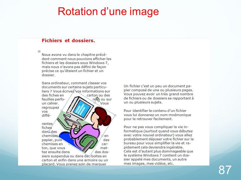 87 Rotation d'une image