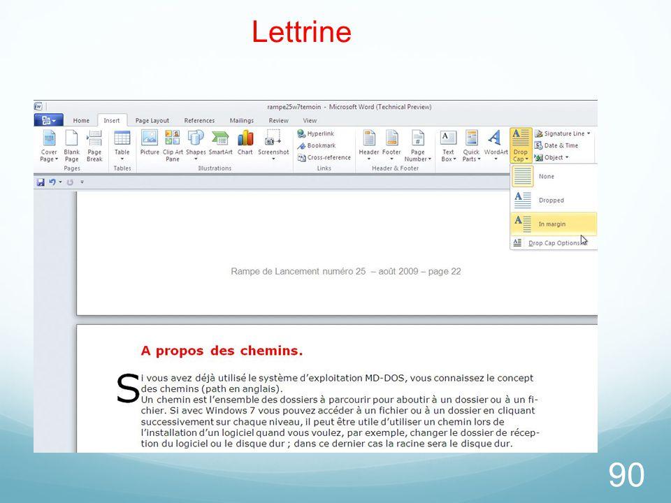 90 Lettrine