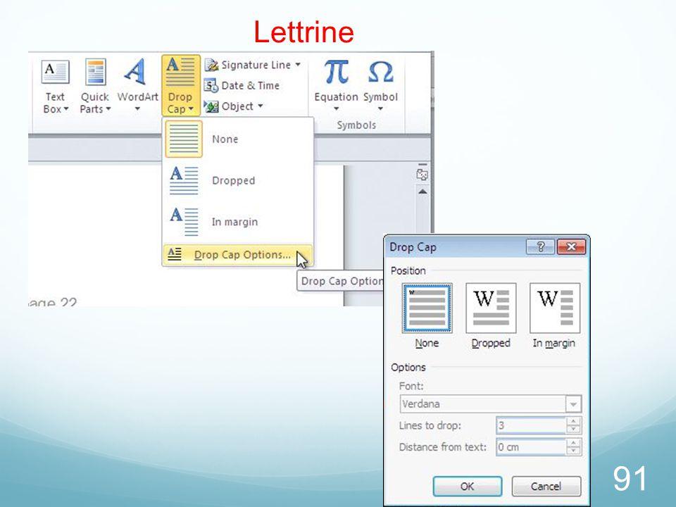 91 Lettrine