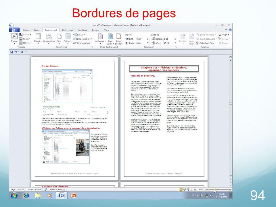 94 Bordures de pages